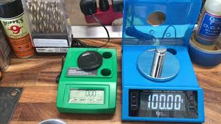 Dillon D-Terminator Electronic scale Vs. RCBS Rangemaster 2000 Electronic scale Vs. RCBS 5-0-5 Part2