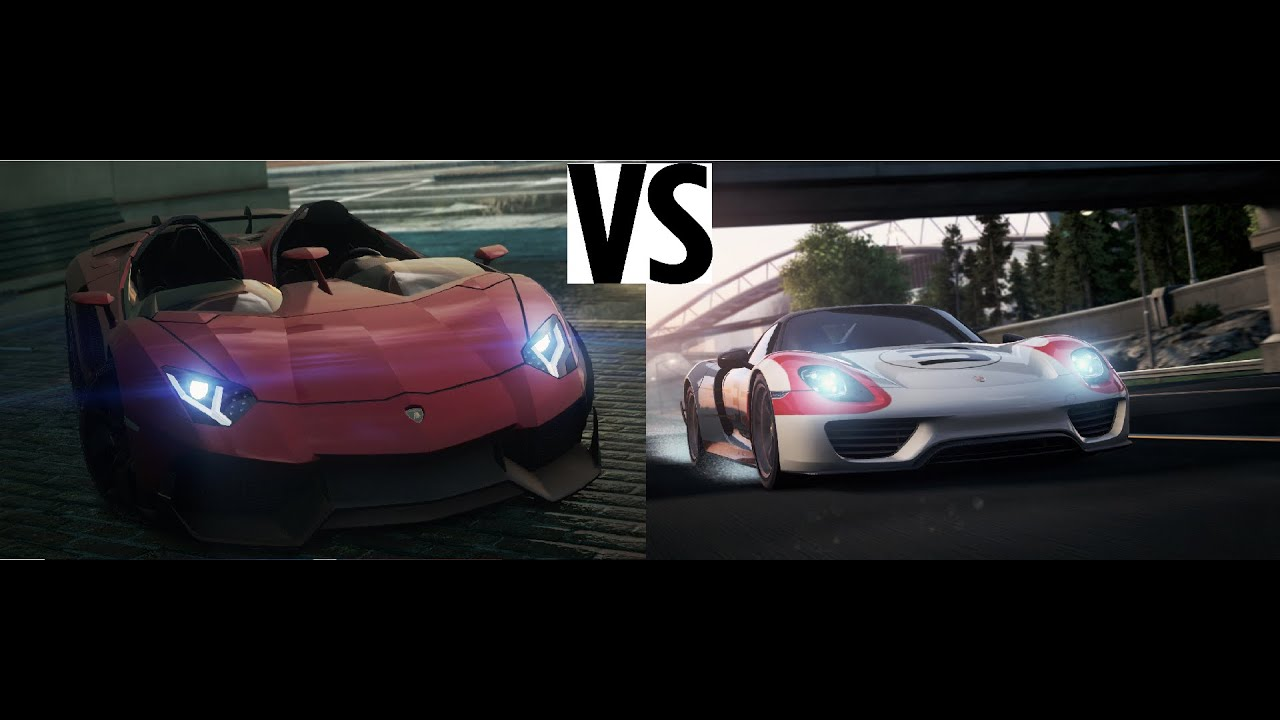 need for speed most wanted 2012 1 lamborghini aventador j vs porsche spyder. Black Bedroom Furniture Sets. Home Design Ideas