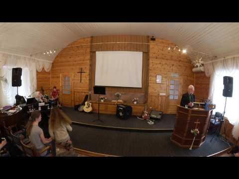 Anre Matetski koos meeskonnaga Paide Baptistikoguduses 16.04.2017
