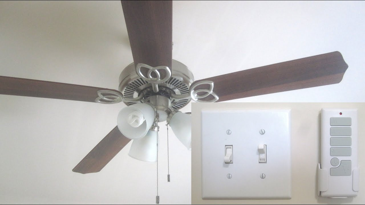 Install Remote Control For Ceiling Fan With Light Youtube