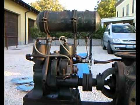 Motore d 39 epoca bicilindrico youtube for Cianografie d epoca in vendita