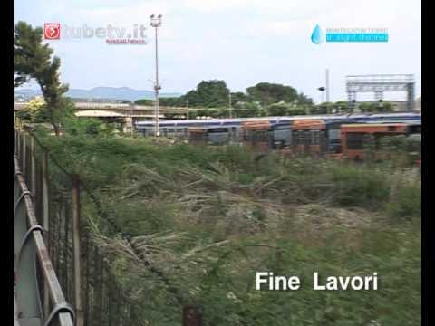 La pulizia dell'area area della stazione di Montecatini