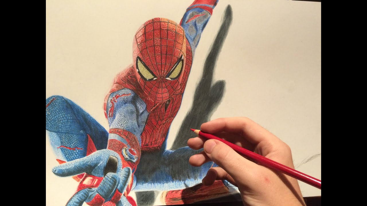 How to draw the amazing spiderman drawing time lapse