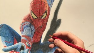 How to draw The Amazing Spiderman - drawing time lapse