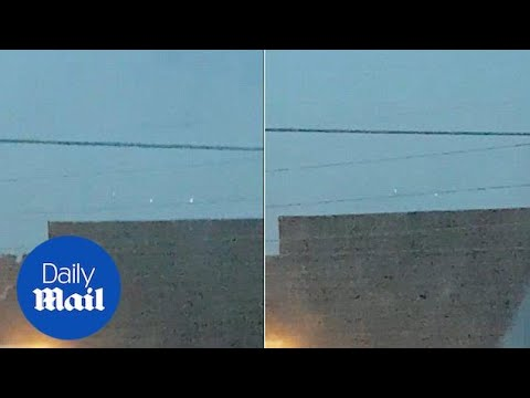 Bristol man captures 'UFO with three lights' hovering over street - Daily Mail