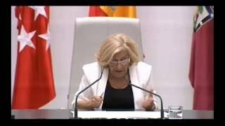 Discurso de Manuela Carmena tras ser proclamada alcaldesa de Madrid.