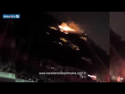 Trabzon Akyazı'da korkutan yangın!