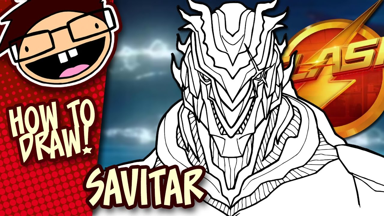 How To Draw Savitar The Flash Narrated Easy Step By Step