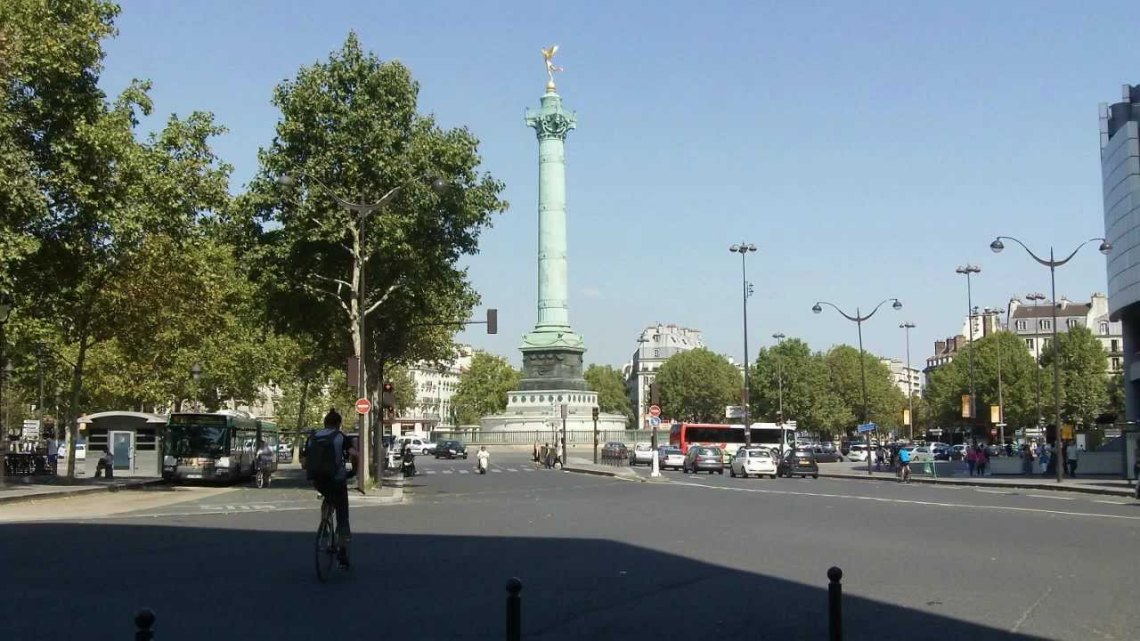 place de la bastille paris youtube. Black Bedroom Furniture Sets. Home Design Ideas