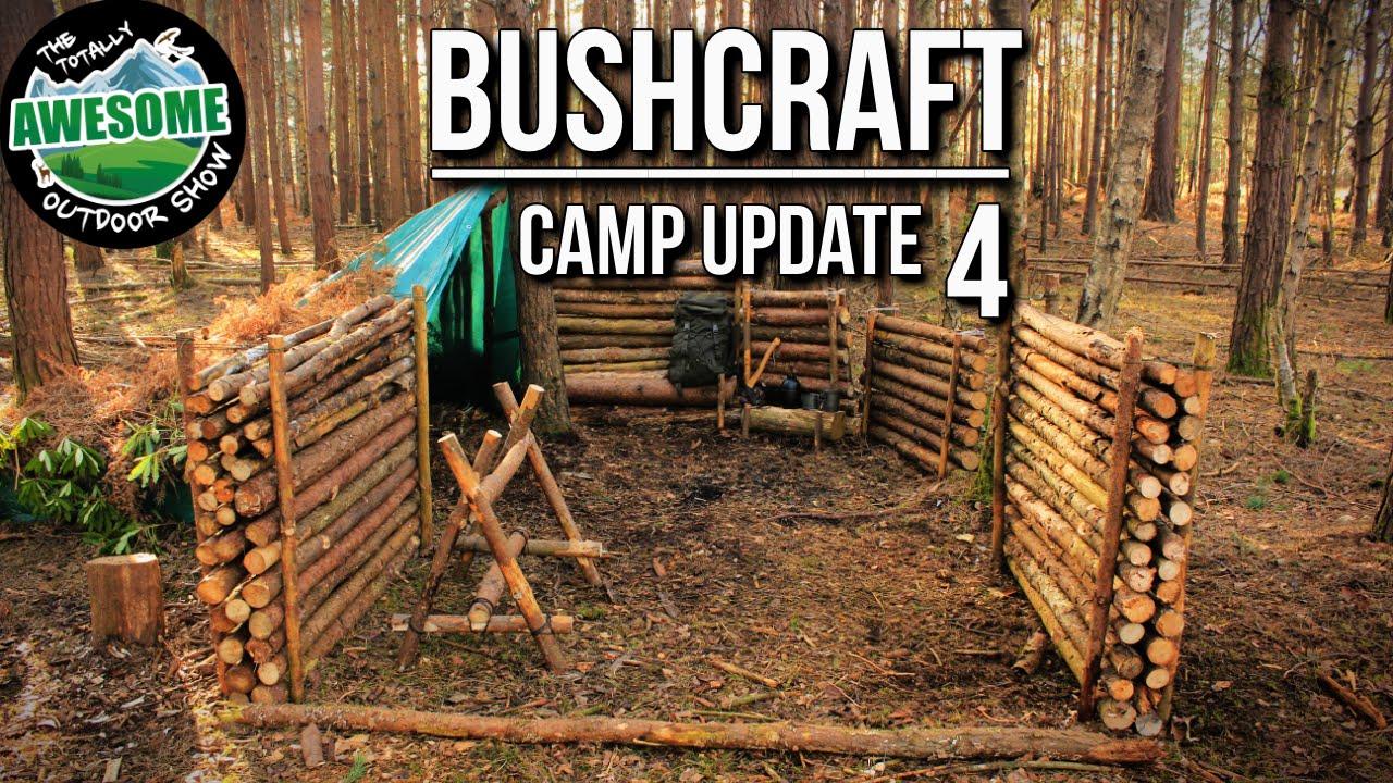 Bushcraft Camp Update 4 Perimeter Walls Finished Ta