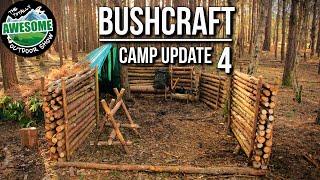 Bushcraft Camp Update 4 - Perimeter Walls Finished! | TA Outdoors thumbnail