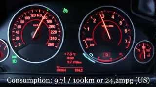 2013 BMW 335i Fuel Consumption Test