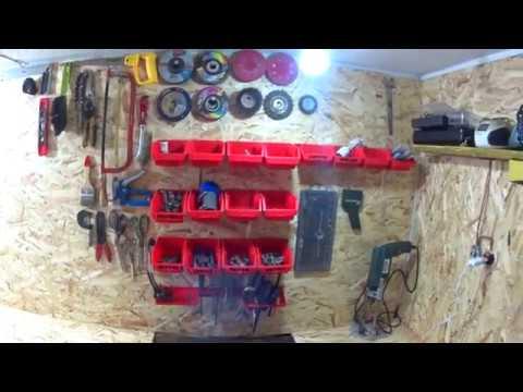 Мой гараж.Ремонт и уборка гаража.Repair in the garage.Обустроил гараж под домом.Стало уютно