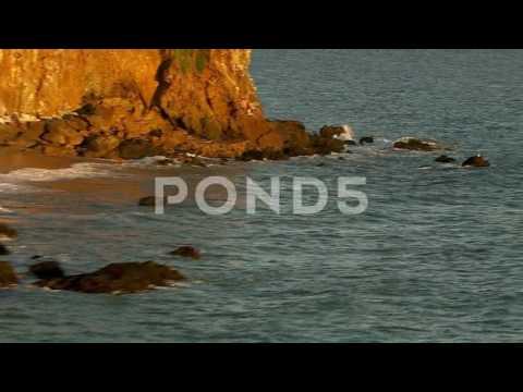 Malibu, California, Usa - March 22, 2012: Aerial Shot Of Pacific Coastline