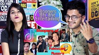 Indian Reaction On Pakistani Musers Tik Tok Bloopers |  M Bros Reactions