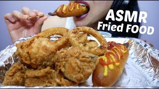 ASMR ULTIMATE Fried FOOD (Onion Rings, Fried Chicken + Corndogs) NO TALKING EATING SOUNDS | SAS-ASMR