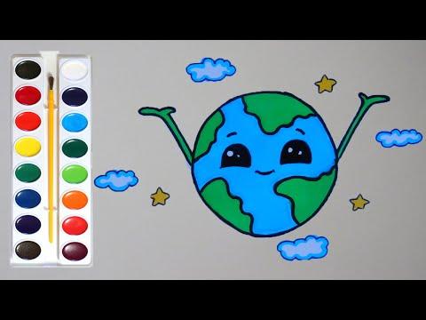 Рисуем ПЛАНЕТУ ЗЕМЛЯ/Draw The PLANET EARTH