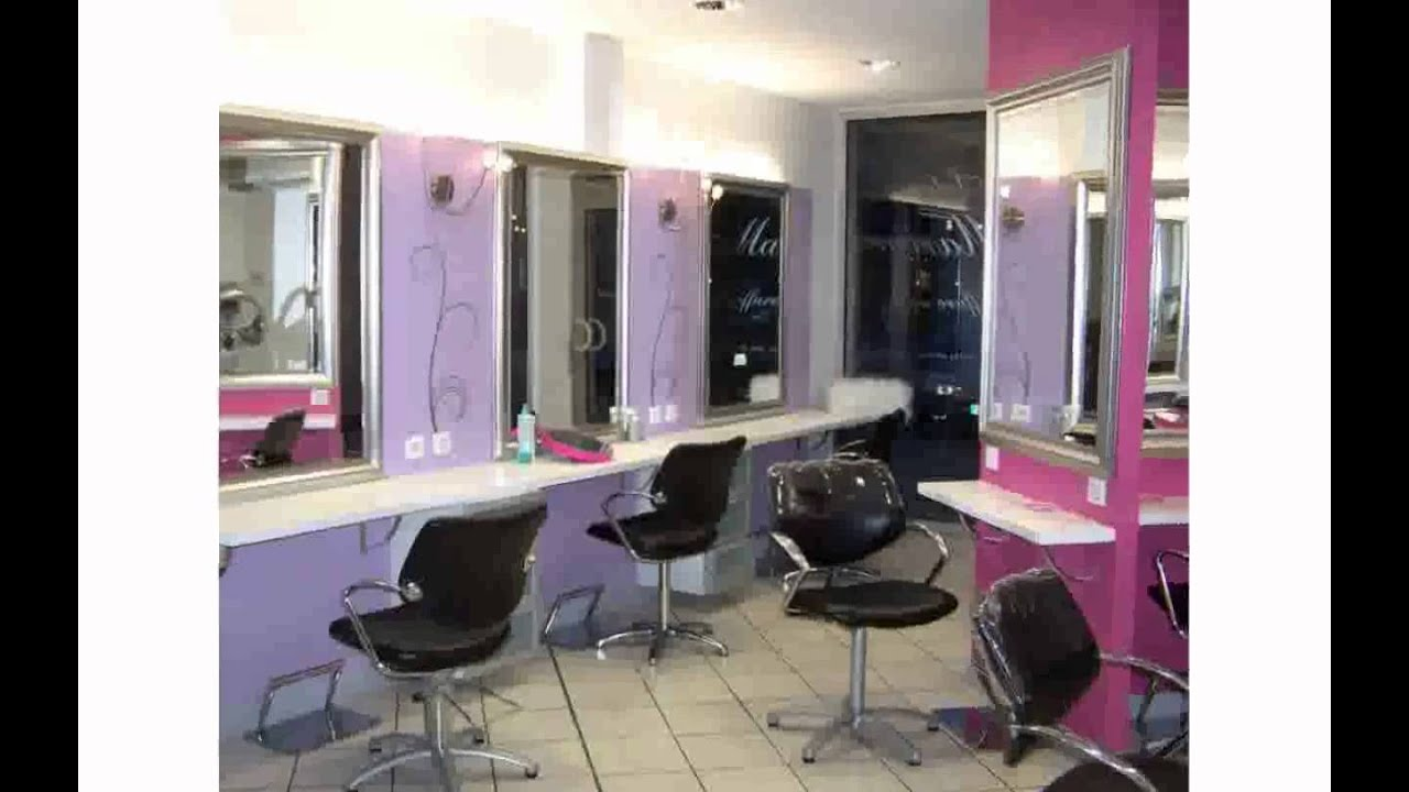 Decoration salon de coiffure youtube for Photos deco salon