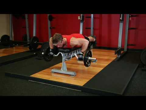Lying Cambered Barbell Row