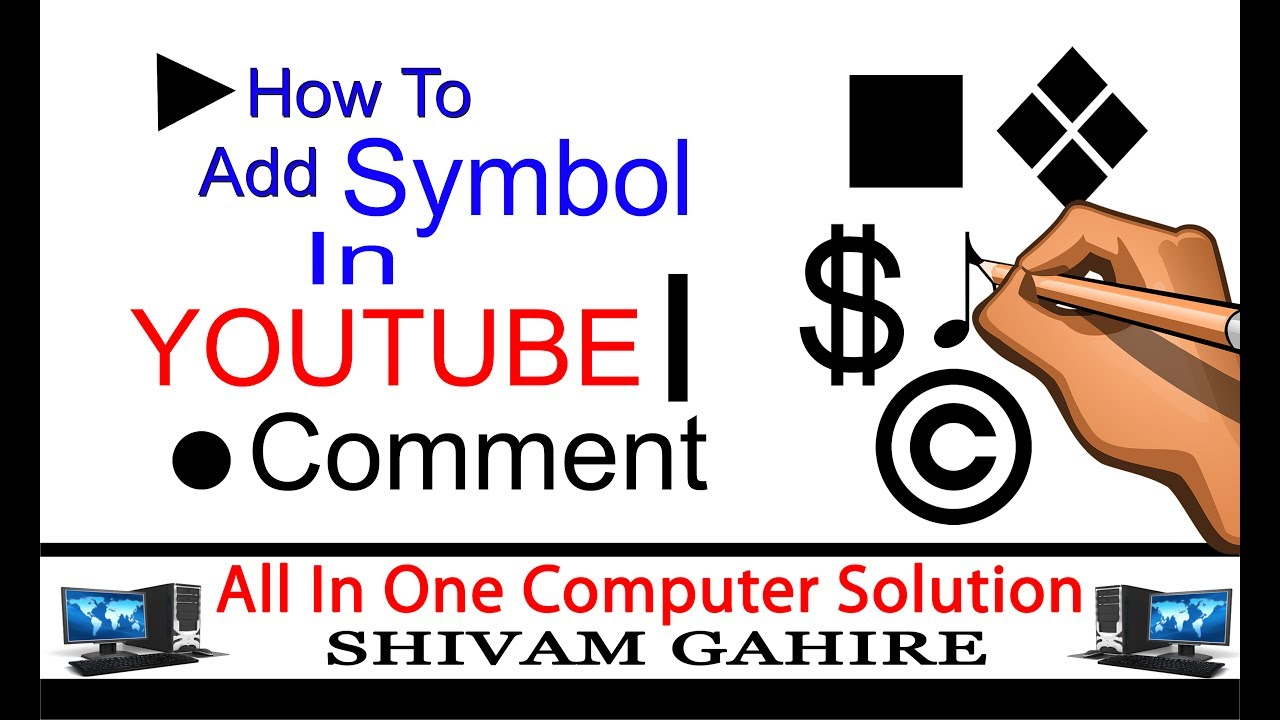 How to add symbol in youtube comment character map how to add symbol in youtube comment character map biocorpaavc