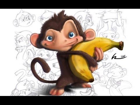 dibujos animados del mono para niños - youtube