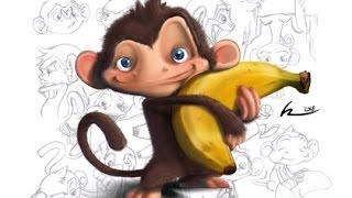 dibujos animados del mono para niños