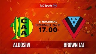 Aldosivi vs Brown de Adrogue full match