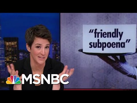 Congress Flouts Donald Trump's 'Red Line,' Subpoenas Financial Documents | Rachel Maddow | MSNBC