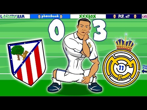 RONALDO HAT-TRICK! Atletico Madrid vs Real Madrid 0-3 (Madri