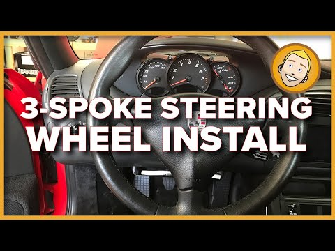 How to INSTALL 3-SPOKE STEERING WHEEL 1998 Porsche Boxster 986 (Project 62)