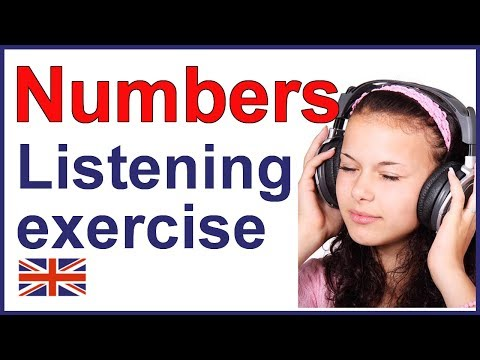 Understand NUMBERS - English listening exercise