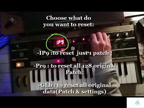How to reset Korg Microkorg Ms2000 to the original Patch (or