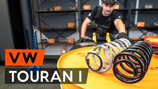 How to replace rear springs / coil springs on VW TOURAN 1 (1T3) [TUTORIAL AUTODOC]