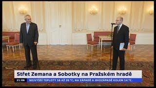 Střet Zemana a Sobotky na Pražském hradě