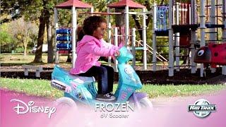 Дитина 6-вольтової Діснея заморожені мерехтливими вогнями їздити-на іграшки скутер
