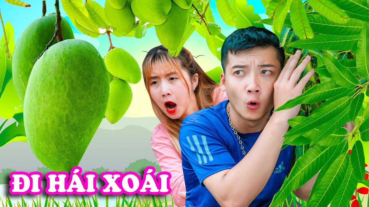 ĐI HÁI XOÀI NHÀ ANH CÔNG LÔNG BÔNG Và Món Xoài Dầm Theo Phong Cách Hạt Tiêu - Phim Hài Táo Xanh TV