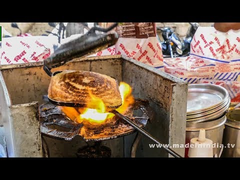 CHEESE MASALA TOAST SANDWICH MAKING   STREET FOODS 2017 street food