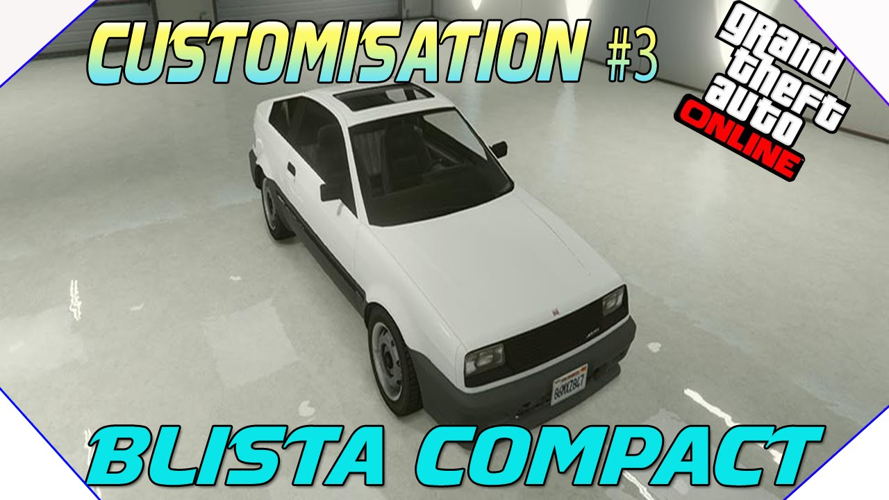 infos customisation de voiture 3 blista compact sportive infos gta v next gen youtube. Black Bedroom Furniture Sets. Home Design Ideas