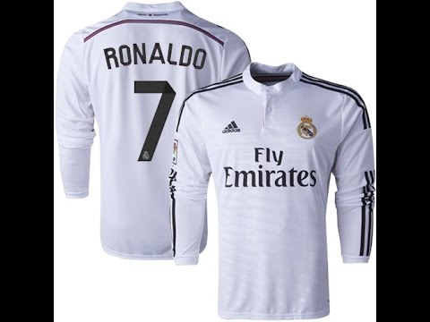 0a4d4fa8e Ronaldo Real Madrid 14-15 Home Kit Unboxing - YouTube