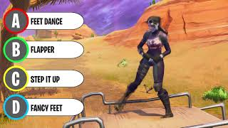 Guess The Fortnite Dance Challenge (90% FAIL)