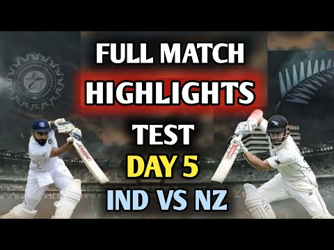 IND VS NZ TEST ||  DAY 5 HIGHLIGHTS || India Vs New Zealand WTC FINAL MATCH TEST DAY 5