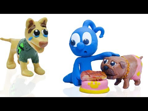 CLAY MIXER: RICH DOG POOR DOG 馃挅 Play Doh Cartoons For Kids