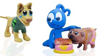 CLAY MIXER: RICH DOG POOR DOG 💖 Play Doh Cartoons For Kids