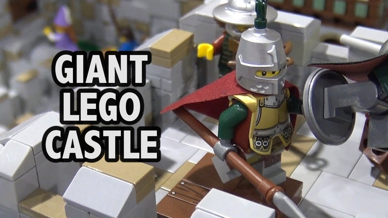 giant lego clarendon castle | brickfair alabama 2017 - youtube