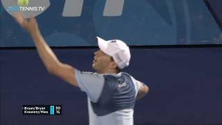 Bryan Brothers in one of the great doubles rallies   Delray Beach 2019