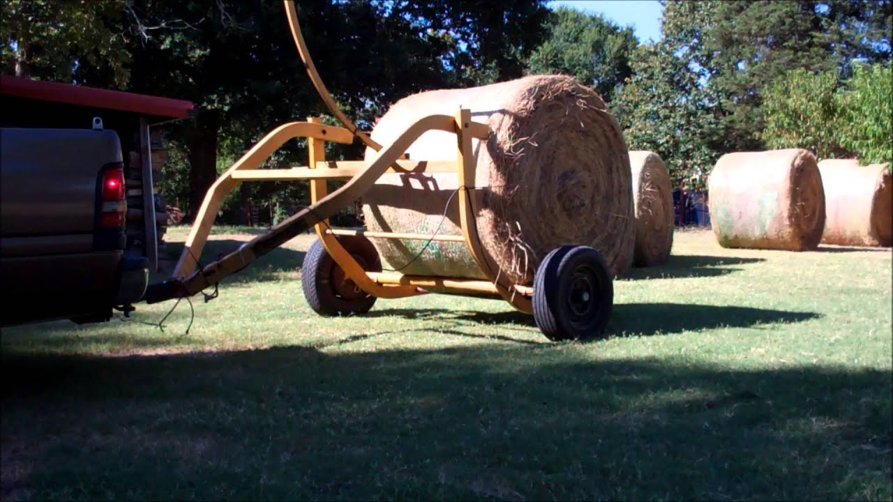 Hauling Hay On The Homestead Tumblebug Round Bale Transport