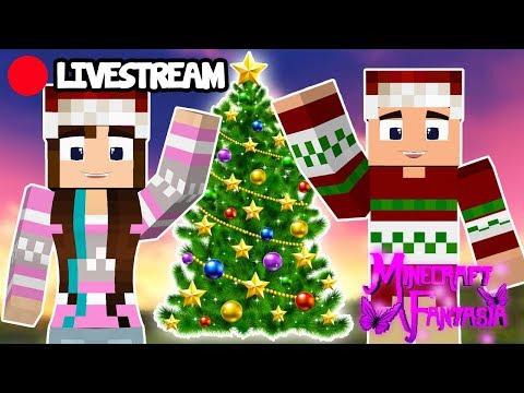 [Live] DECORANDO PARA O NATAL! - Minecraft Fantasia #29 #LiveMarmota