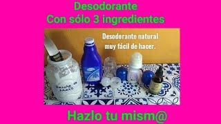 Desodorante natural muy fácil y rápido de hacer 😊👍 Hazlo tu mism@.