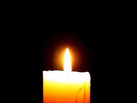 Горящая свеча анимация память