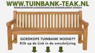 Tuinbank Aanbieding [MIS DIT NIET] Houten Tuinbank van teak in de aanbieding [VIDEO]